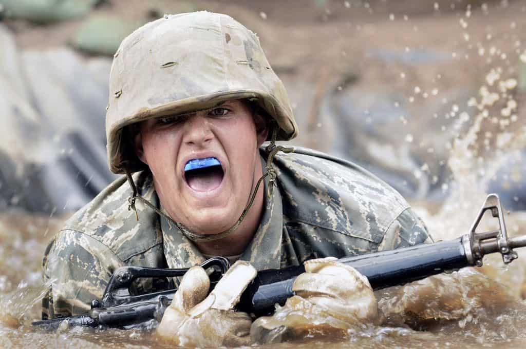 army crawling man mudguard